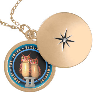 Valxart 1963 2023 WaterRabbit zodiac Gemini Round Locket Necklace
