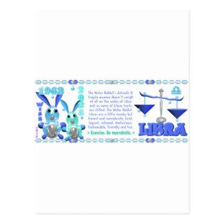 Valxart 1963 2023 WaterRabbit zodiac Libra Postcard