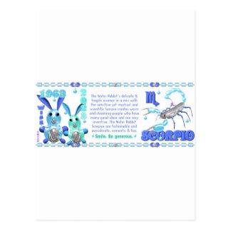 Valxart 1963 2023 WaterRabbit zodiac Scorpio Postcard