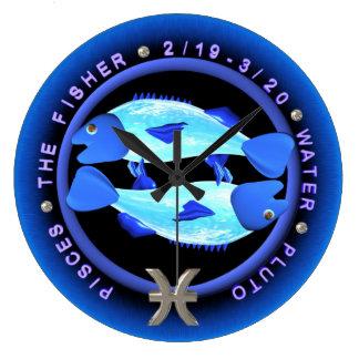 Valxart 1963 2023 zodiacos Piscis de WaterRabbit Reloj Redondo Grande