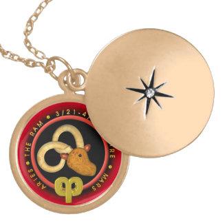 Valxart 1964 2024 Wood Dragon zodiac Aries Round Locket Necklace