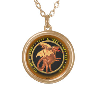 Valxart 1964 2024 Wood Dragon zodiac Cancer Gold Plated Necklace
