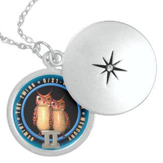 Valxart 1964 2024 Wood Dragon zodiac Gemini Round Locket Necklace