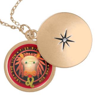 Valxart 1964 2024 Wood Dragon zodiac Leo Round Locket Necklace