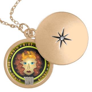 Valxart 1964 2024 Wood Dragon zodiac Virgo Round Locket Necklace