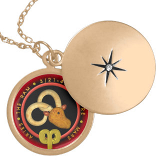 Valxart 1965 2025 Wood Snake zodiac Aries Round Locket Necklace