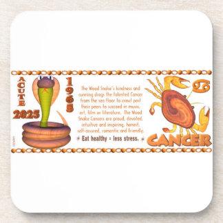 Valxart 1965 2025 Wood Snake zodiac Cancer Coaster