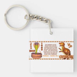 Valxart 1965 2025 Wood Snake zodiac Capricprn Keychain