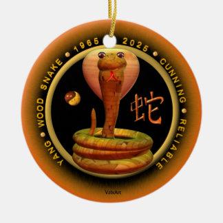 Valxart 1965 2025 Wood Snake zodiac Scorpio Ceramic Ornament