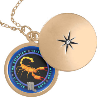 Valxart 1965 2025 Wood Snake zodiac Scorpio Round Locket Necklace