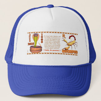 Valxart 1965 2025 Wood Snake zodiac Scorpio Trucker Hat