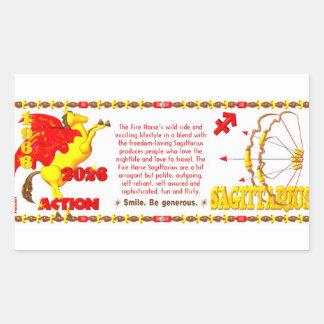 Valxart 1966 2026 Fire Horse zodiac Sagittarius Rectangular Sticker