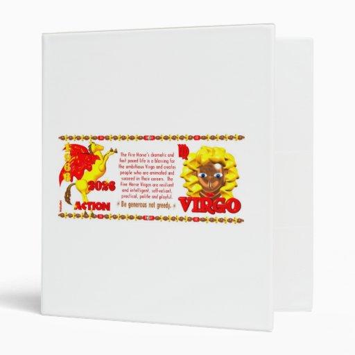 Valxart 1966 2026 Fire Horse zodiac Virgo Binders