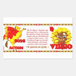 Valxart 1966 2026 Fire Horse zodiac Virgo Rectangular Sticker