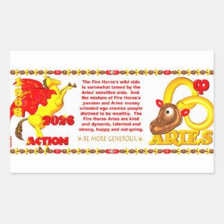 Valxart 1966 2026 Fire Sheep zodiac Aries Rectangular Sticker