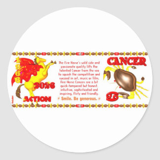 Valxart 1966 2026 Fire Sheep zodiac Cancer Classic Round Sticker