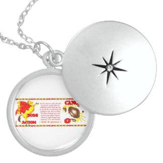 Valxart 1966 2026 Fire Sheep zodiac Cancer Round Locket Necklace
