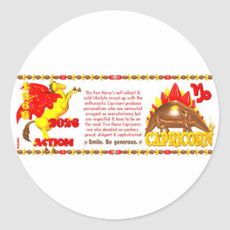 Valxart 1966 2026 Fire Sheep zodiac Capricorn Classic Round Sticker