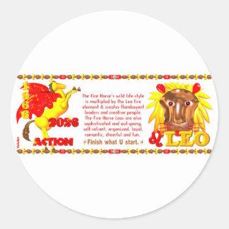 Valxart 1966 2026 Fire Sheep zodiac Leo Classic Round Sticker