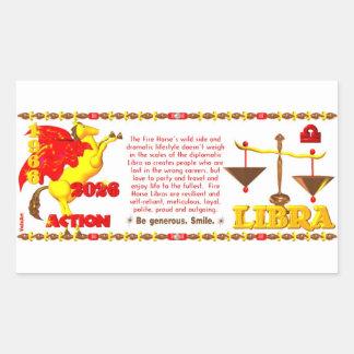 Valxart 1966 2026 Fire Sheep zodiac Libra Rectangular Sticker