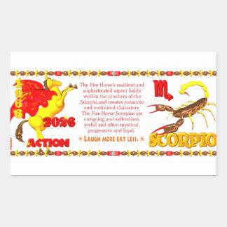 Valxart 1966 2026 Fire Sheep zodiac Scorpio Rectangular Sticker