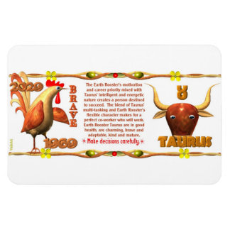 Valxart 1969 2029 Earth Roster zodiac Taurus Magnet