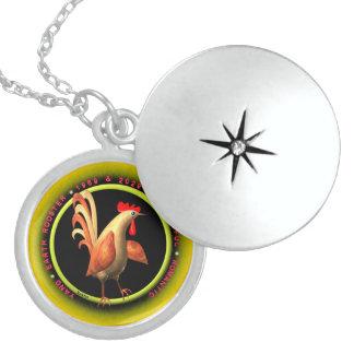 Valxart 1969 2029 Earth Roster zodiac Virgo Round Locket Necklace