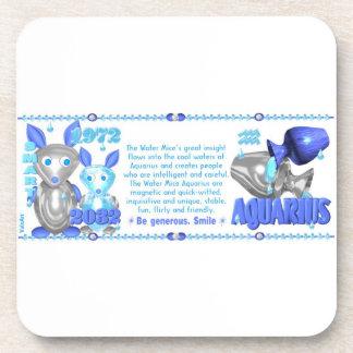 Valxart 1972 2032 WaterRat zodiac born Aquarius Coaster