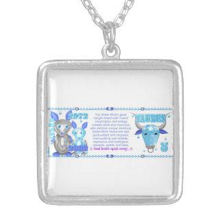 Valxart 1972 2032 WaterRat zodiac born Taurus Silver Plated Necklace