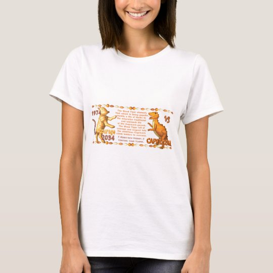 ValxArt 1974 2034 Chinese zodiac wood tiger people T-Shirt