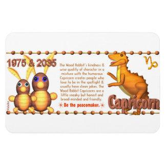 Valxart 1975 2035 WoodRabbit Zodiac born Capricorn Rectangular Photo Magnet