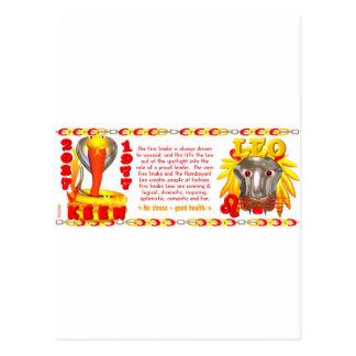 Valxart 1977 2037 FireSnake zodiac born Leo Postcard