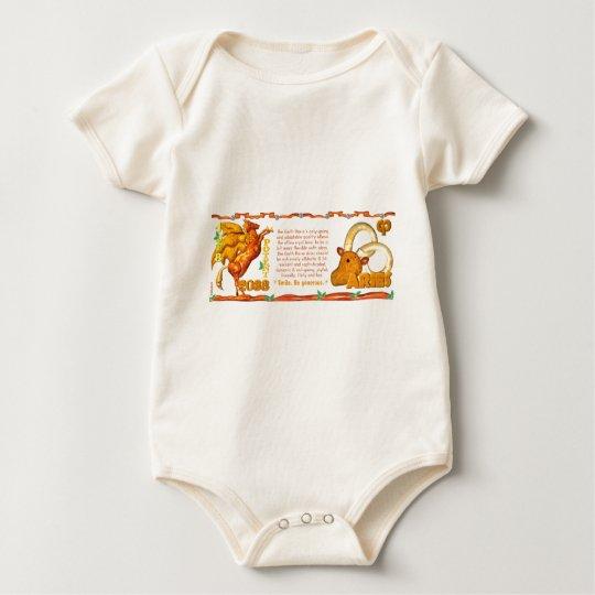 Valxart 1978 2038 Earth Horse zodiac born Aries Baby Bodysuit