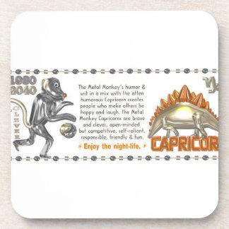 Valxart 1980 Capricorn metalmonkey Drink Coaster