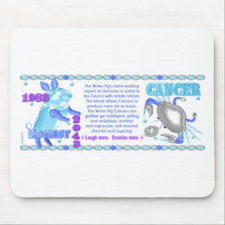 ValxArt 1983 2043 Zodiac water pig born in Cancer Mouse Pad