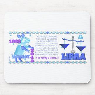 ValxArt 1983 2043 zodiac water pig born Libra Mouse Pad