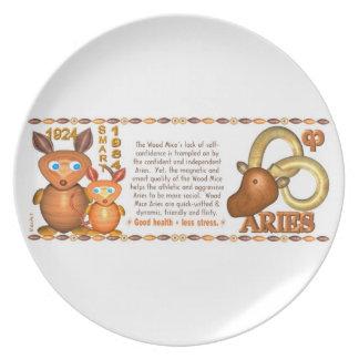 Valxart 1984 2044 WoodRat zodiac born Aries Plate