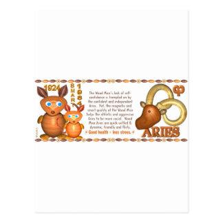Valxart 1984 2044 WoodRat zodiac born Aries Postcard