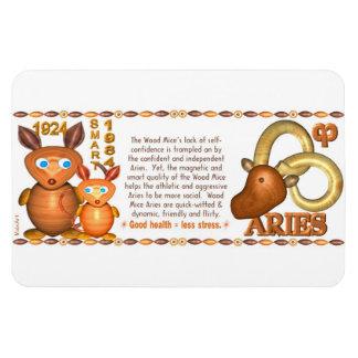 Valxart 1984 2044 WoodRat zodiac born Aries Rectangular Photo Magnet