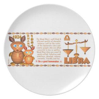 Valxart 1984 2044 WoodRat zodiac born Capricorn Dinner Plate