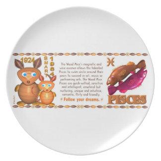 Valxart 1984 2044 WoodRat zodiac born Pisces Dinner Plate
