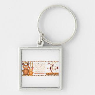 Valxart 1984 2044 WoodRat zodiac born Sagittarius Silver-Colored Square Keychain