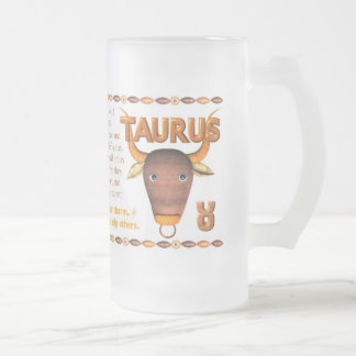 Valxart 1984 2044 WoodRat zodiac born Taurus Frosted Glass Beer Mug