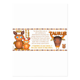 Valxart 1984 2044 WoodRat zodiac born Taurus Postcard