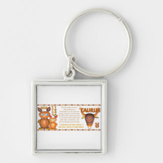 Valxart 1984 2044 WoodRat zodiac born Taurus Silver-Colored Square Keychain