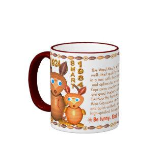 Valxart 1984 2044 WoodTiger zodiac born Capricorn Ringer Mug