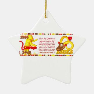 Valxart 1986 2046 aries del zodiaco de FireTiger Adorno De Navidad