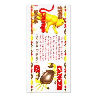Valxart 1986 2046 cánceres del zodiaco de FireTige Tarjeta Con Foto Personalizada