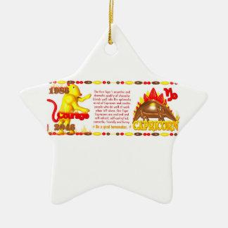 Valxart 1986 2046 Capricornios del zodiaco de Fire Ornamento De Reyes Magos