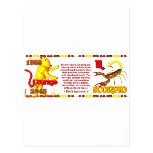 ValxArt 1986 2046 escorpiones llevados tigre del Postal